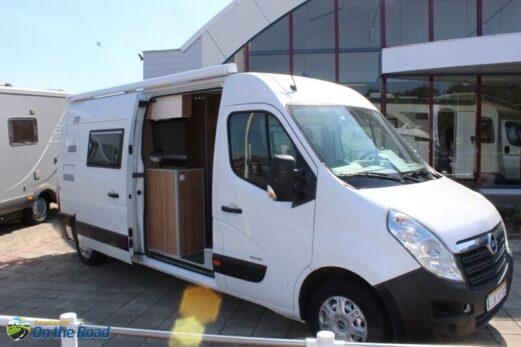 Opel Movano 2.3 D. Buscamper,  Verlengd met enkele bedden. Gebouwd door G.C.I . Veendam