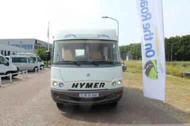 Hymer B584 Integraal, Hefbed, Barzit, Lange-bank. Opklapbare fietsendrager. Motor airco